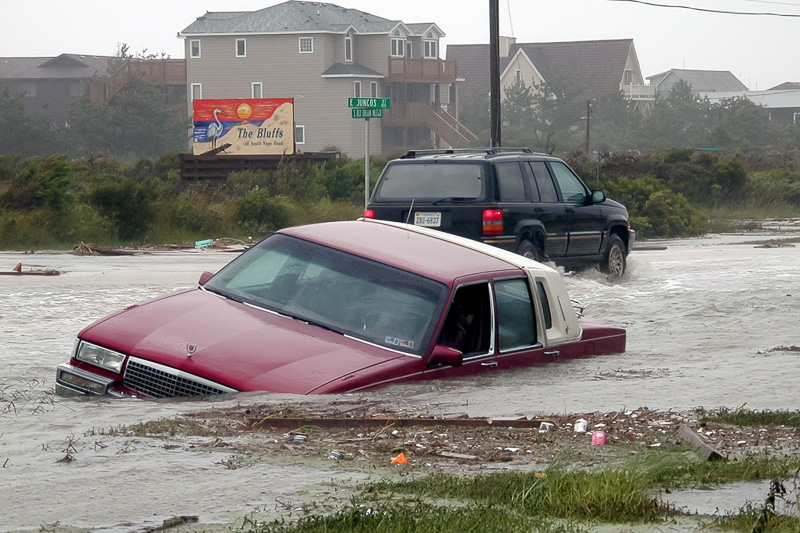 Coastal flooding in North Carolina