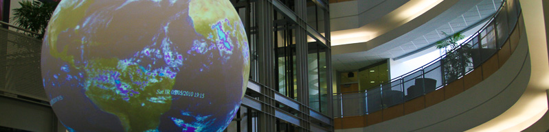 Science on a Sphere, NWC atrium