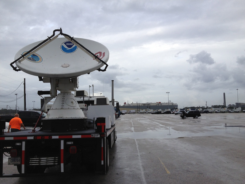NOXP radar on loading dock
